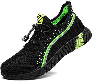 Zapatos de Seguridad Hombre Bambas de Seguridad Hombre y Mujer Bambas Punta de Acero Mujer Zapatillas de Trabajo con Punta...