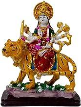 Marble Look Goddess Maa Durga Devi Idol Handicraft Statue Sherawali MATA Rani Spiritual Puja Vastu Showpiece Fegurine Reli...