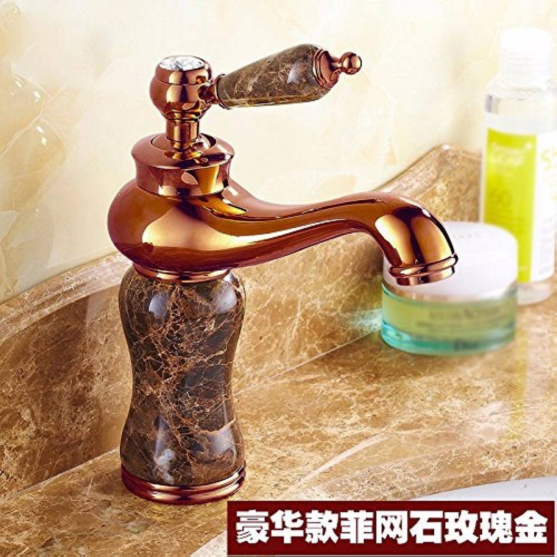 Bijjaladeva Wasserhahn Bad Wasserfall Mischbatterie Waschbecken Waschtisch Armatur für BadWaschbecken Warmes und Kaltes Jade Badezimmer Einzelne Bohrung Einzigen Griff Mixer H