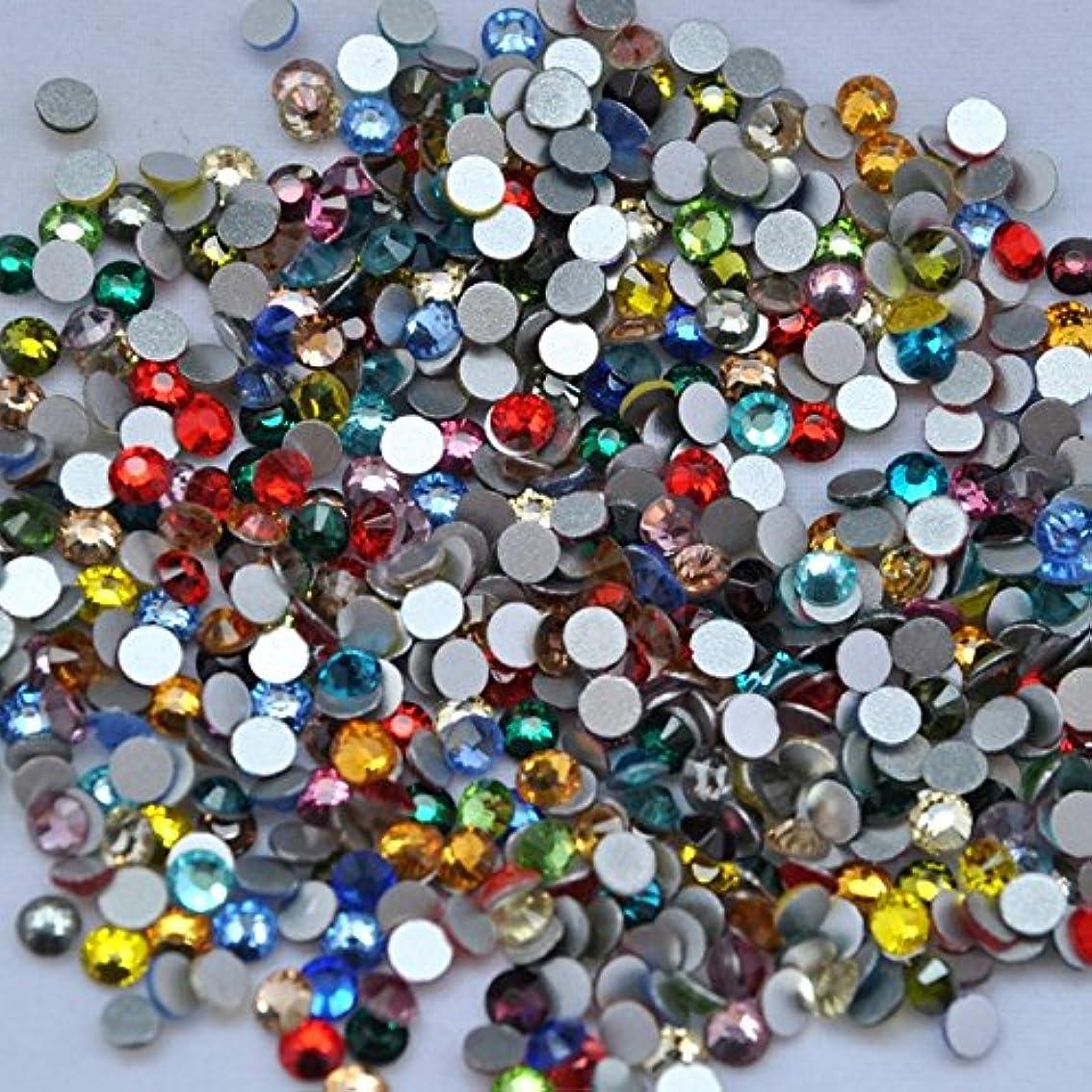 事前に比類なきちらつきガラス製 15色以上ミックス ラインストーン 各サイズ選択可能 (1.2mm (SS3) 約1440粒) [並行輸入品]
