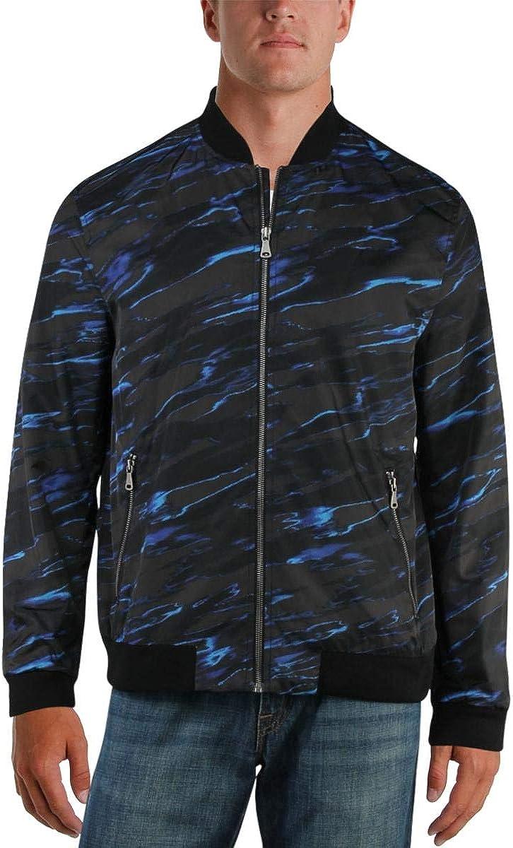 I-N-C Mens Abstract Bomber Jacket