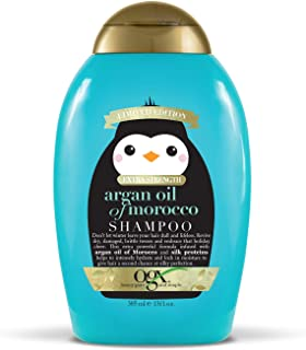 OGX Holiday 2019 limited edition extra strength argan oil of morocco shampoo, 13 Ounce, blue and golden