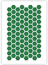 QBIX Zeshoekige sjabloon - honingraatsjabloon - patroon sjabloon - A5-formaat - herbruikbaar kindvriendelijk DIY sjabloon ...