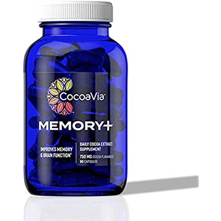 CocoaVia Memory+ Brain Supplement, Clinically Proven to Improve Your Memory in 8 Weeks, 30 Day Supply