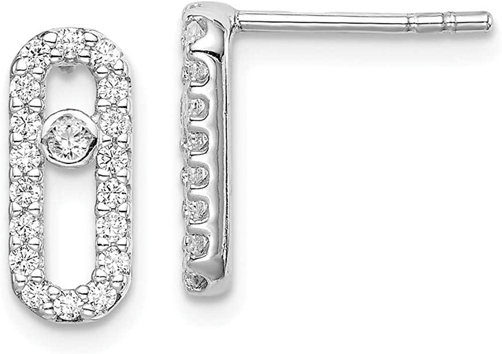 Topics on Ranking TOP11 TV 925 Sterling Silver Cubic Zirconia Cz Bu Stud Ball Earrings Post