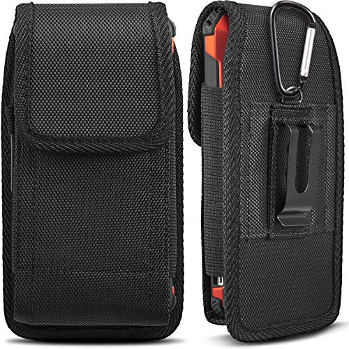 iNNEXT Universal Case for iPhone 8 7 Plus Pouch Case, Vertical Holster Belt Clip Carrying Case Pouch for iPhone X iPhone Xs iPhone XR iPhone 6 Plus/iPhone 6S Plus/iPhone 7 Plus 5.5 inch (Black)