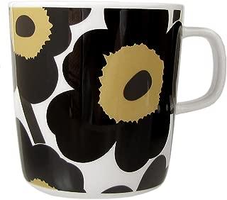 マリメッコ Marimekko マグカップ コップ 400ml 食器 UNIKKO ウニッコ ホワイト×ブラック 67719 030 [並行輸入品]
