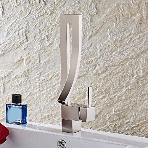 HQLCX Robinets de lavabo Fils Unique Robinet Vogue Et Froid Chaud Trou Basin Robinet