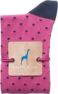 Giraffe Cool Calcetín para Mujer de Color fucsias Puntos Azules