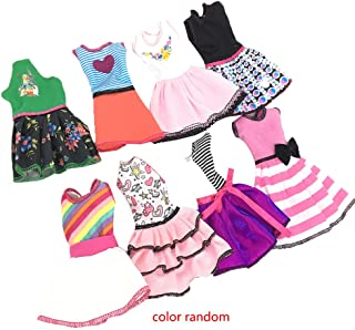 Lorsoul Color Random Short Beautiful Doll Girls Clothes Dress Casual Lovely Toy Skirts Children Accessory