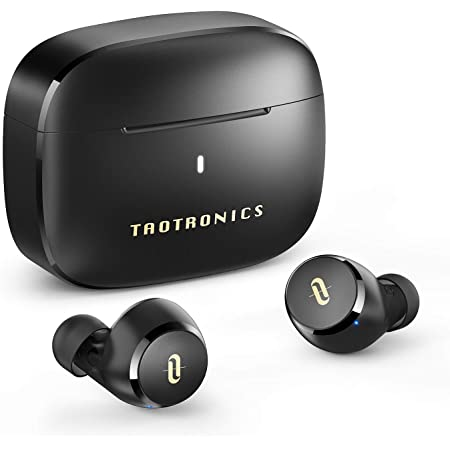 Wireless Earbuds, TaoTronics Bluetooth 5.0 Headphones Soundliberty 97 True Wireless Earphones in-Ear with mic CVC 8.0 Noise Cancelling AptX Stereo Bass Touch Control IPX8 Waterproof 9H Playtime