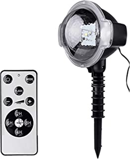 Minetom Christmas Snowfall Projector Lights, Rotating LED Snow Projection with Remote Control, Outdoor Landscape Decorative Lighting for Christmas, Holiday, Party, Wedding, Garden, Patio