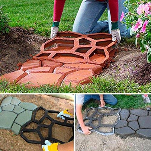 Driveway Paving Pavement Mold Patio Concrete Stepping Stone Path Walk Maker New