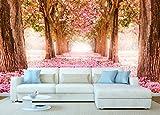 Fotomural Vinilo Paisaje Rosas | Fotomural Pared | Fotomural Decorativo | Vinilo Decorativo | Varias Medidas 200x150cm | para la decoración de comedores, Salones | Diseño Elegante
