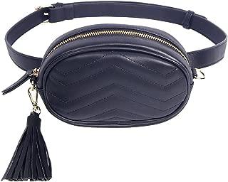 TJEtrade Fanny Packs for Women Fashion Waist Bag Leather Belt Bum Bag Waterproof