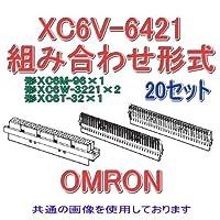 オムロン(OMRON) XC6V-6421 (20個入) 形XC6V 組み合わせ形式 64極 (本体ハウジング1個/一列コンタクト2個/ダミー板1個) NN