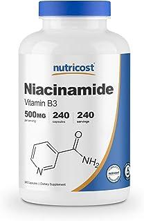 Best Nutricost Niacinamide (Vitamin B3) 500mg, 240 Capsules - Non-GMO, Gluten Free, Flush Free Vitamin B3 Review