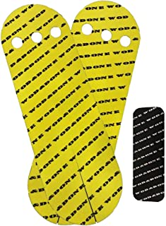 WOD and Done Grips and Hook Grip Bundle - Yellow 10 Grips / 12 Hook - Self Adhesive - Skin Tight - Chalk and Sweat Friendly
