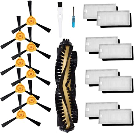 Theresa Hay Accessories Kit for Ecovacs Deebot N79S N79 Robotic Vacuum Cleaner Filters, Side Brushes,Main Brush ¡ (1+8+8)