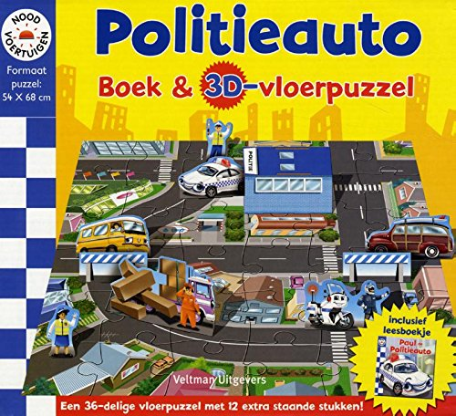 Politie boek en 3D-puzzel (Noodvoertuigen)