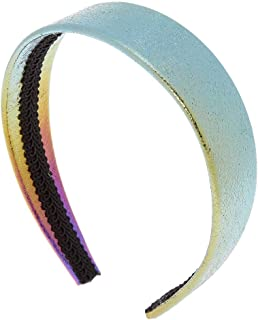 Claire's Women's Girl's Wide Rainbow Anodized Holographic Flat Headband Hairband Alice Band - Fashion Hair Accessories