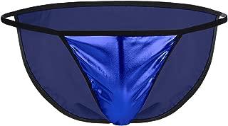 YiZYiF Men's sexy Wetlook Patent Leather Bikini Briefs Underwear Underpants