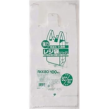 ジャパックス レジ袋 80号 (西日本80号) 100枚入 無着色半透明 0.030mm