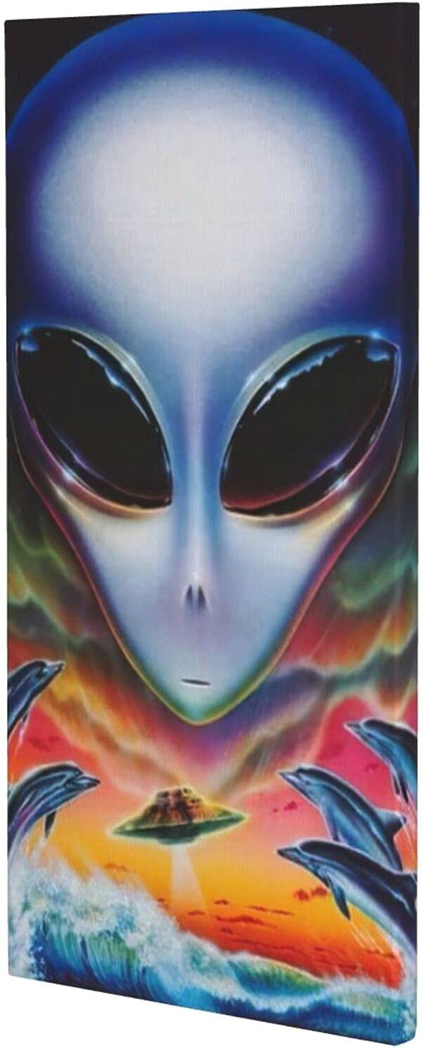 HUANGJ Alien UFOs and dolphins Free Shipping New on ocean modern Poster safety the decora