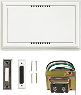 Atticus Electronics Wired Door Bell Deluxe Contractor Kit, 2 Notes 85dB, Includes One Brushed-Nickel Lighted and One Non-Lit Push Button and One UL Listed Transformer (Input 120VAC, Output 16VAC 10VA)