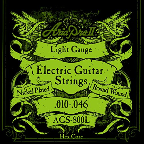 Aria 2A1410 - Juego de cuerdas para guitarra eléctrica 010-046