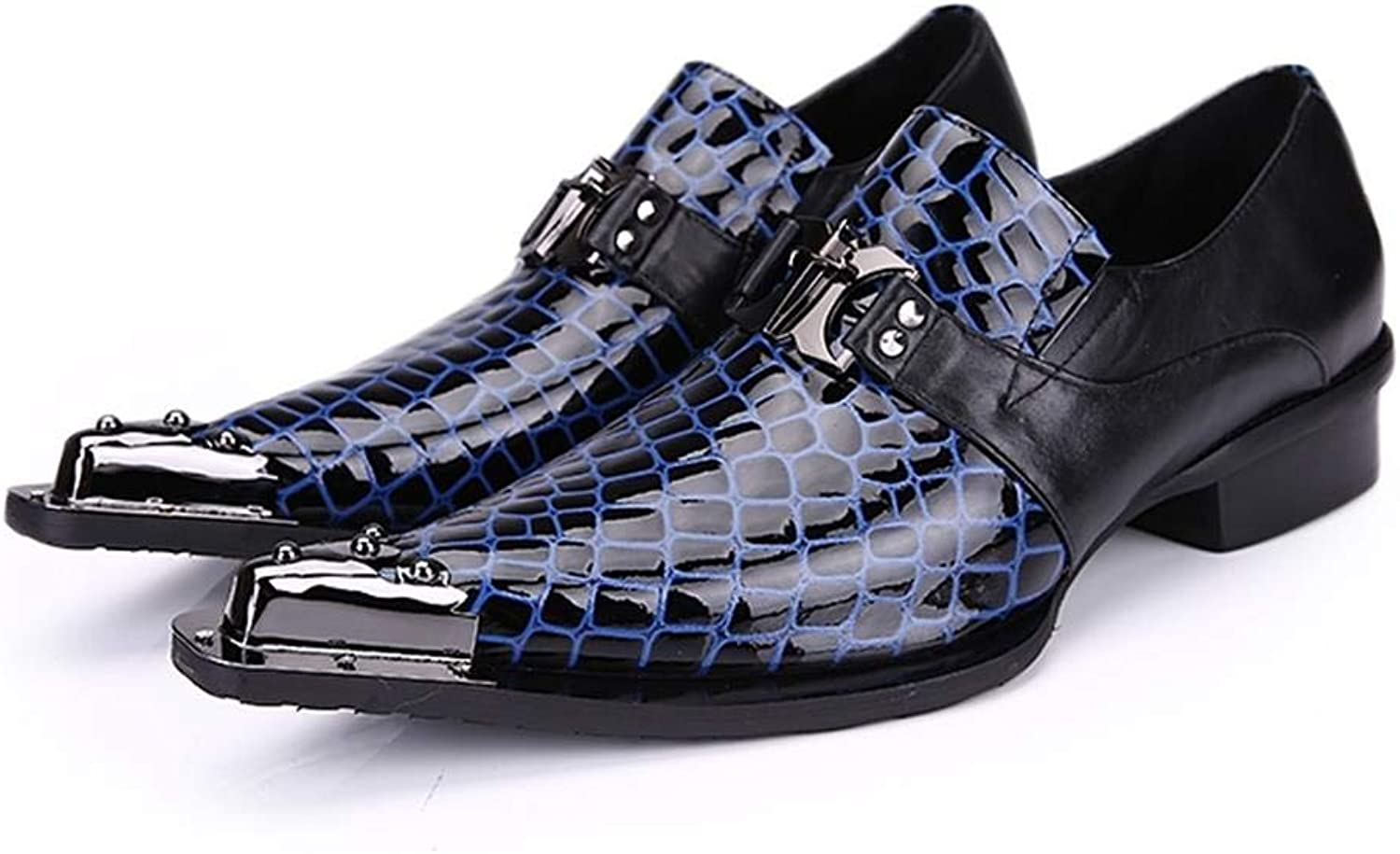 blueee Pointed Men's shoes Breathable Men's shoes