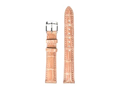 Michele 16 mm Alligator Strap (Pink) Watches