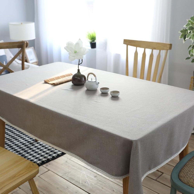 BiuTeFang Tischdecken Einfarbig Restaurant Leinen Tischdecke einfach und modern Kaffee Tischtuch Tischdecken B07BZJLD6T Ruf zuerst  | Angemessene Lieferung und pünktliche Lieferung