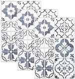 infactory Fliesenfolien: Selbstklebende 3D-Bordüre-Fliesenaufkleber, 29,5 x 19,5 cm, 3er-Set (Fliesen Bordüre zum Aufkleben)