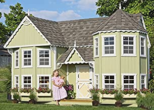 Little Cottage Company Sara's Victorian Mansion DIY Playhouse Kit, 8' x 16'