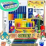 Fournitures Scolaires - materiel scolaire rentree scolaire papeterie kawaii feutres enfant crayon de couleurs feutre coloriage affaire scolaire kawaii