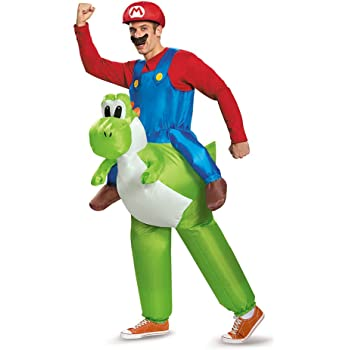 Mario Riding Yoshi Adult Fancy dress costume Standard: Amazon.es ...