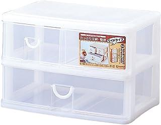 サンコープラスチック 小物収納2段 3ボックス エルピス 幅39×奥25.5×高26.4cm ホワイト