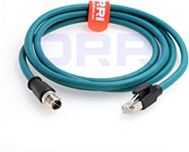 DRRI M12 X-Coded 8 Pole to RJ45 Gigabit Ethernet Interface Cat6 Shielded Cable (2M)