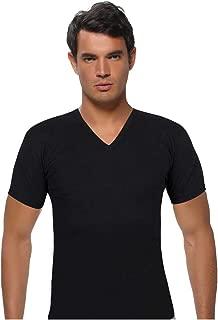 ModaKids Gümüş İç Giyim Erkek V Yaka Siyah Kollu Fanila 040-4051-038
