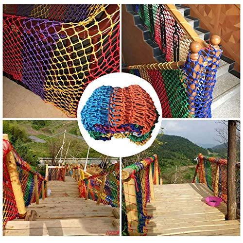 veiligheidsnet, decoratief, nylon touw, balkonnet, veiligheidsrooster, trapbescherming, kleuterschool, tuinrooster, touw, schommel.