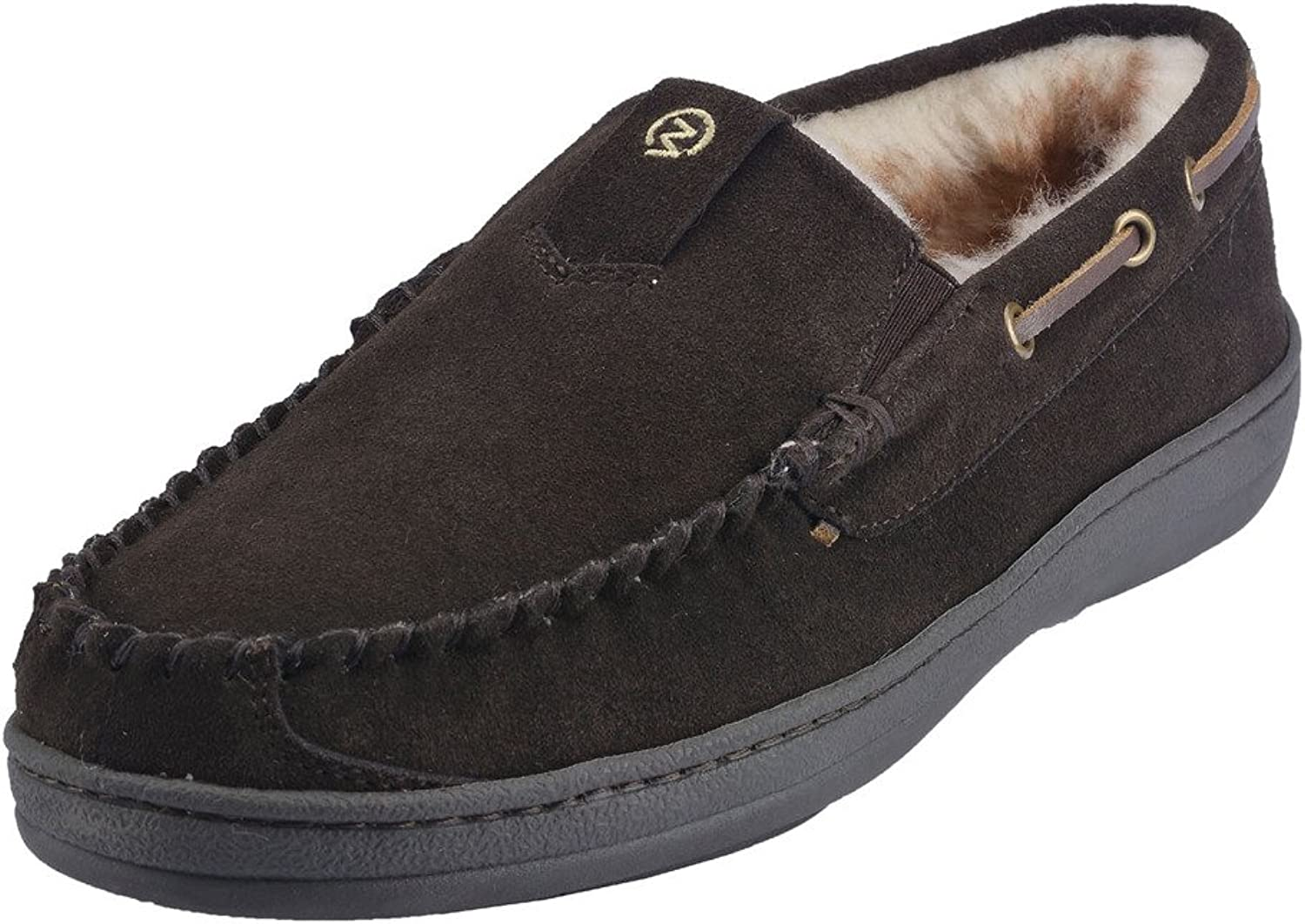 MOC PAPA Cow Suede Leather Slip-on Moccasin Slipper
