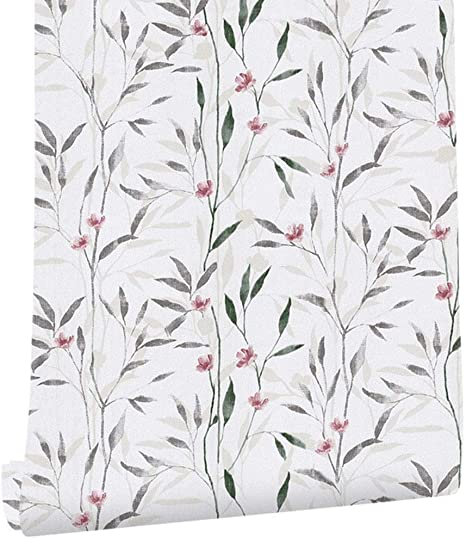 Amazon Com Taogift Decorative Floral Herb Contact Paper Wallpaper Self Adhesive Drawer Shelf Liner Cabinets Dresser Crafts Wall Sticker 17 7x117 Inches