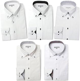 [ドレスコード101] ワイシャツ 5枚セット ドレスシャツ デザインシャツ 豊富なサイズ展開でぴったりがみつかる ビジネスシーンでもおしゃれしよう 形態安定 SHIRT-SET-30 メンズ