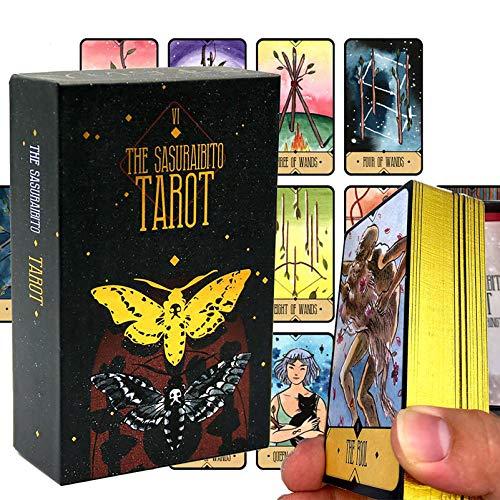 Tarot of The Divine,Weissagungs-Tarot, Feiertags-Familien-Party-Geschenk, Für Teenager-Spaß-Tischkarten-Spiele, Brettspiel,Alltägliche Hexen-Orakel-Karten (Color:EIN)