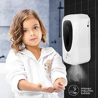 Dispensador automático de jabón,SEAAN-1000ML Rociador de Alcohol sin Contacto montado en la Pared, rociador automático de desinfección por inducción, Traje para público, baño, Cocina