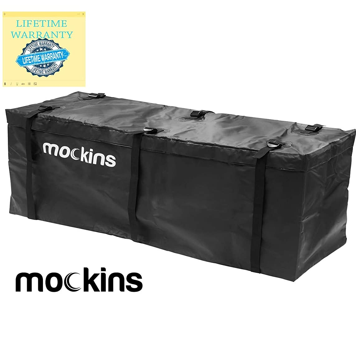 Mockins Waterproof Cargo Carrier Bag   The Hitch Rack Cargo Bag is Made from Heavy Duty Abrasion Resistant Vinyl with 15.5 Cu.ft.Capacity at 57