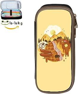 bagshome Breakfast Scape Big Capacity Canvas Key Bag Holder for Kids Black