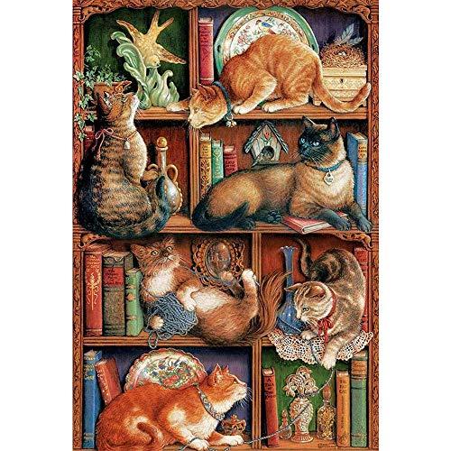 500/1000 Stuk Puzzel Voor Volwassenen En Kinderen - Cat Brain Exercise Game Op Klassieke Houten Puzzel Speelgoed Boekenplank Decomprimeren DIY Kit Gift, Puzzelsets Voor Familie