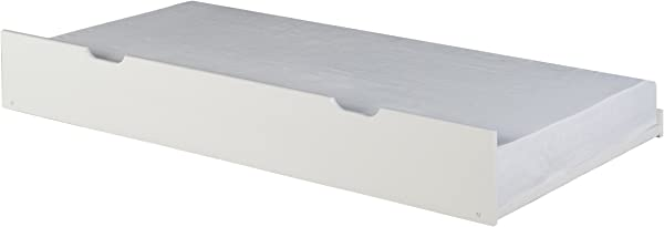 Camaflexi Solid Wood Under Bed Trundle Twin White
